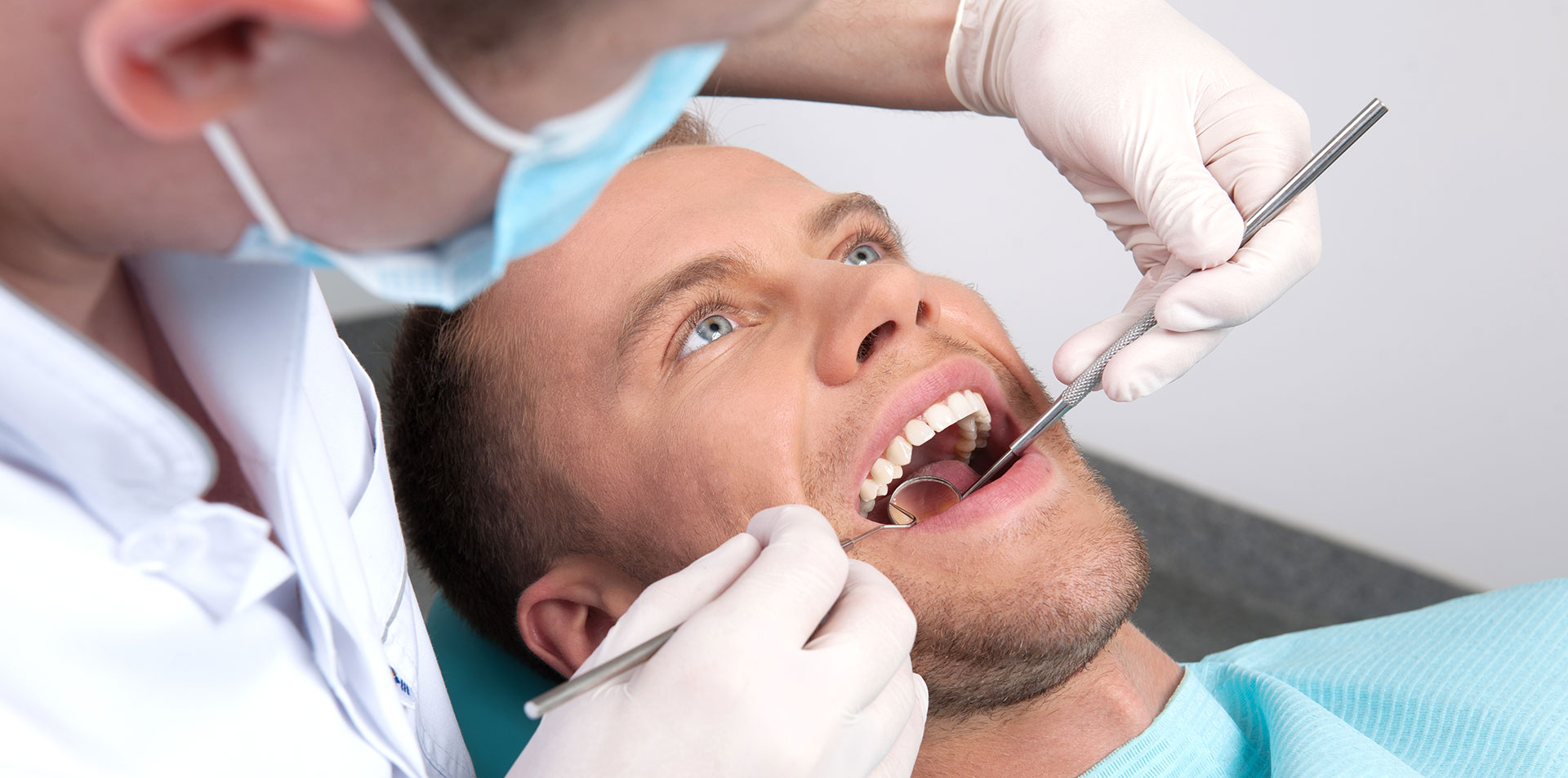 dental exam for a new patient